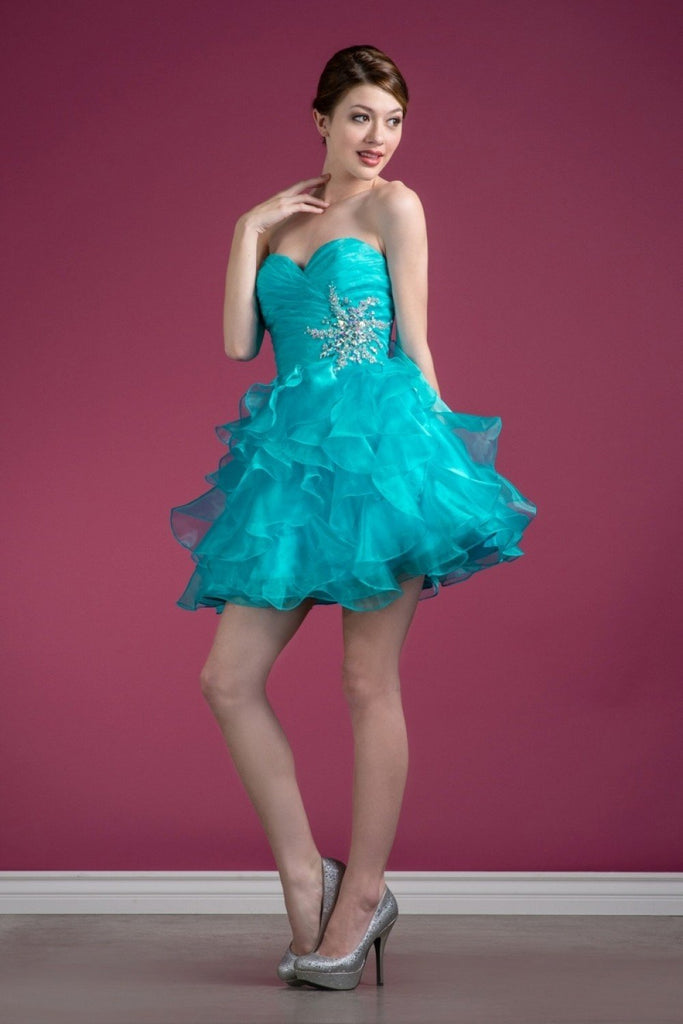 Sweetheart Strapless Sleeveless Short Homecoming Dress CDJC822