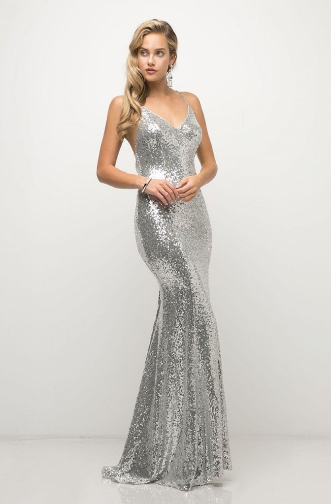 NEW Sequin Sheath V-Neckline Long Prom Gown CDJS406