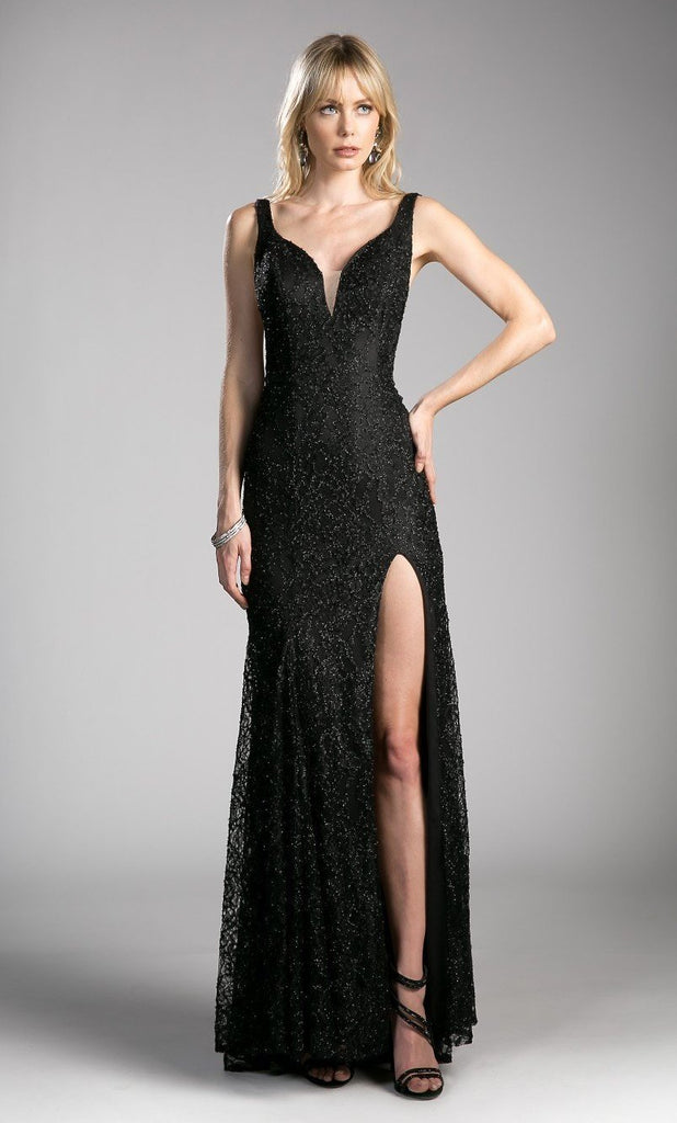 Celebrity Glitter Beaded Open Back Lace Evening Gown Dress CDKC1843-Evening Dresses | alwaysprom.com-alwaysprom.com