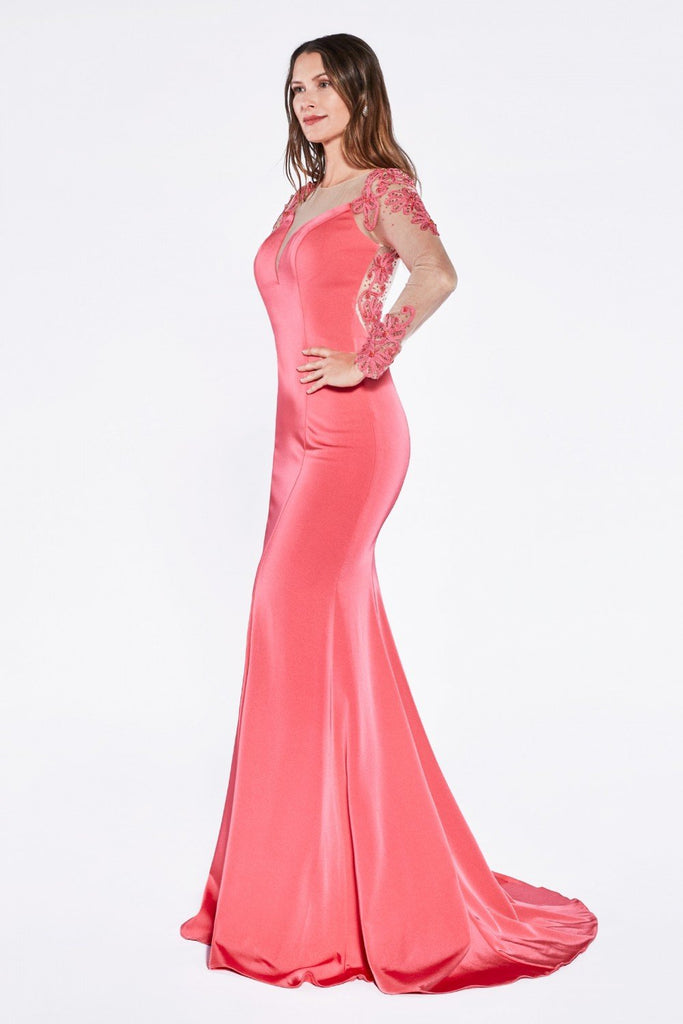 Illusion Sweetheart Neckline Long Prom Dress CDKD038