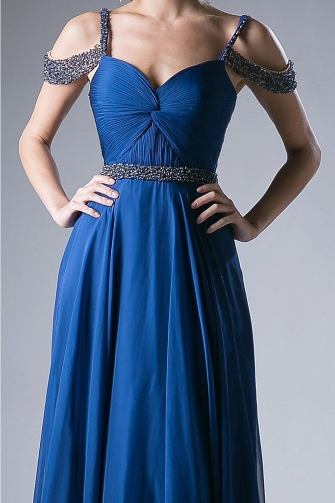 Sweetheart Nekcline Off-Shoulder Long Prom Dress CDP211