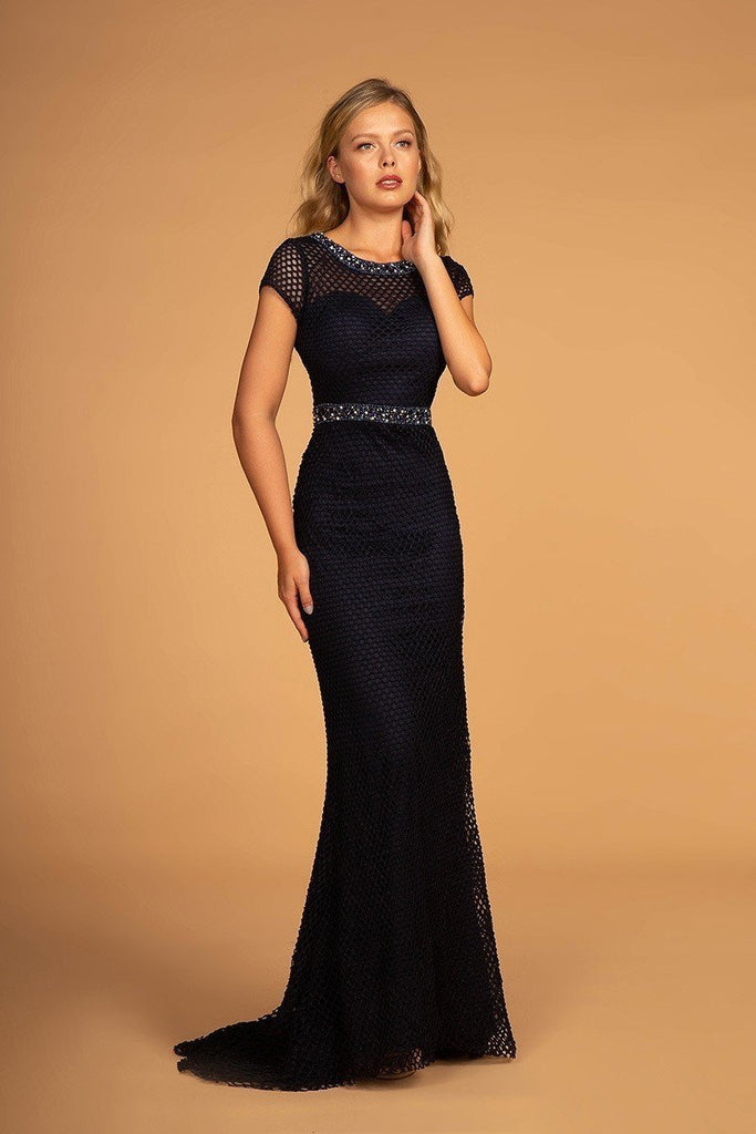 Long Formal Mother Of The Bride Beaded Evening Gown Dress GLGS2612-Mother of the Bride Dresses | Smcfashion.com-smcfashion.com