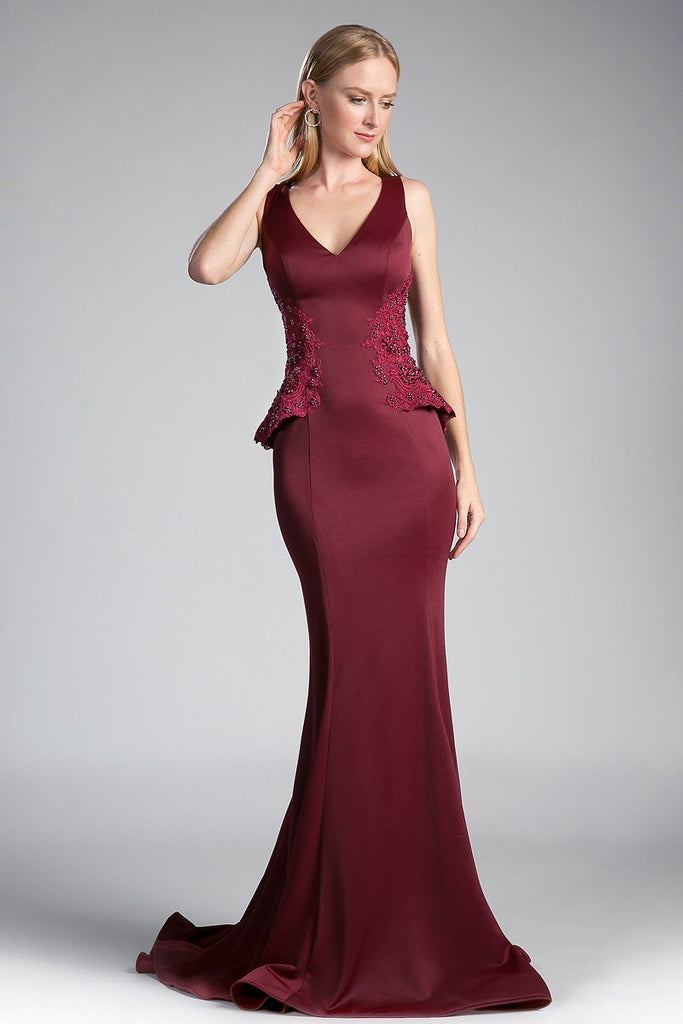 Wholesale Womens Bridsmaids Long Sleeveless Beaded Gown Dress CD5031-Bridesmaid Dresses | wholesale Bridesmaid Dresses-alwaysprom.com