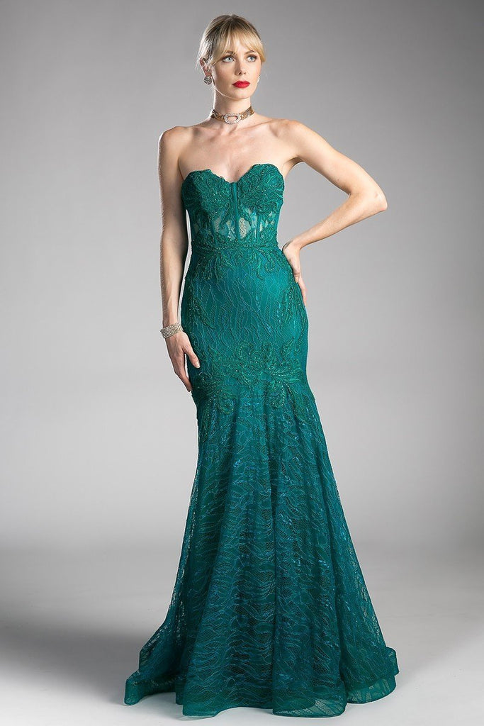 Women Sweetheart Long Mermaid Beaded Formal Evening Dress CDKC19010-Evening Dresses | alwaysprom.com-alwaysprom.com