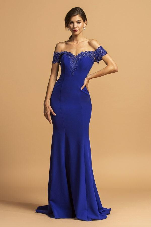 Off-Shoulder Sweetheart Neckline Mermaid Long Dress APL2235