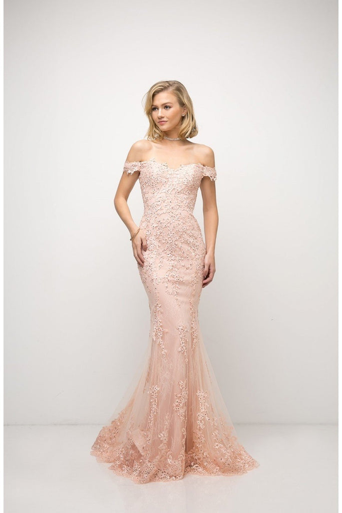 Beaded Lace Sweetheart Neckline Mermaid Long Prom Gown CDUE004