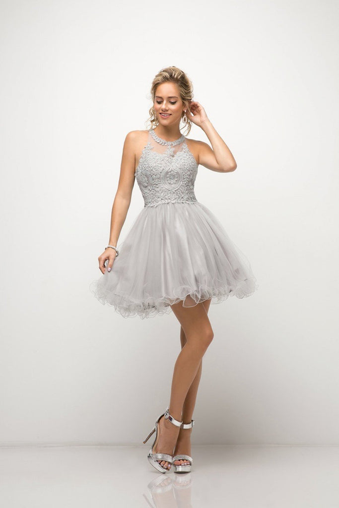 Cheap Short Beaded Open Back Evening Cocktail Formal Dress 2019 CDUJ0119-Homecoming Dresses | Smcfashion.com-smcfashion.com