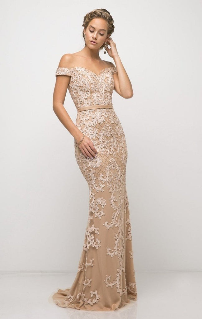 Off-Shoulder Sweetheart Neckline Mermaid Long Prom Dress CDUK012