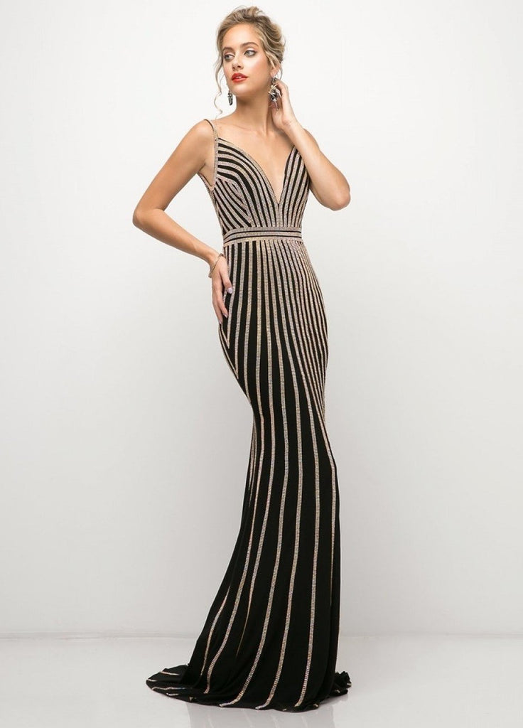 New 2019 Beaded Stretch Knit Sheath Gown Evening dress CDUK017-Evening Dresses | alwaysprom.com-alwaysprom.com