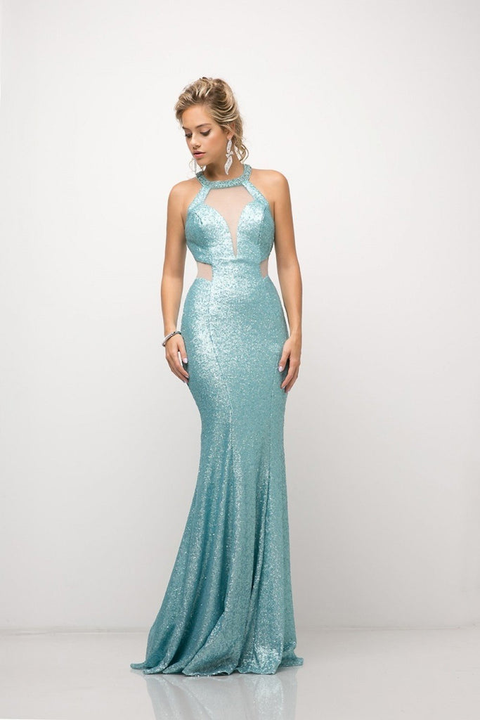 Long Beaded Evening Formal Open Back Glitter Gown Dress CDUR133-Evening Dresses | alwaysprom.com-alwaysprom.com