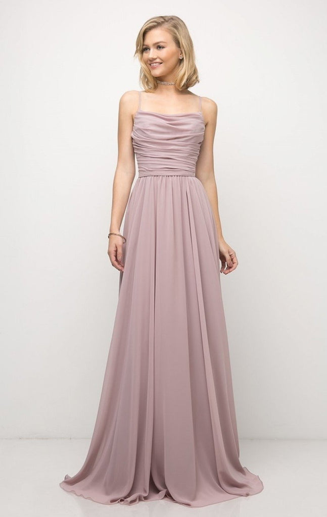 Chiffon Empire Waist Long Bridesmaid Dress Plus Size CDUR136
