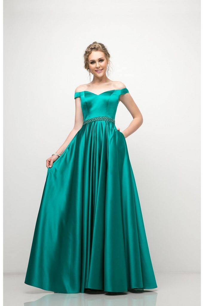 Off Shoulder Sweetheart Sleeveless Long Elegance Prom Dress Plus Size CDUT257