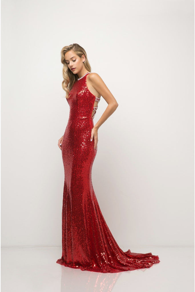 Glitter Beaded Evening Prom Formal Dress CDUW202-Evening Dresses | Smcfashion.com-smcfashion.com