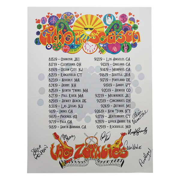 Autographed Time of the Season 50th Anniversary Tour Poster