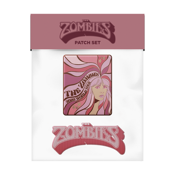 The Zombies patch set. Includes pink logo patch and groovy lady patch