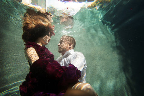 Berry Couplet Dress Underwater