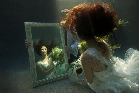 Wedding Dress Underwater Mirror
