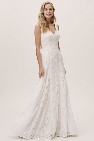 BHLDN Pronovias White One Oporto Gown