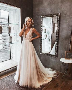BHLDN Whispers & Echoes Quillen Gown