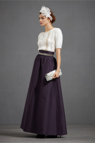 BHLDN Hitherto Beatific Ball Skirt - Aubergine