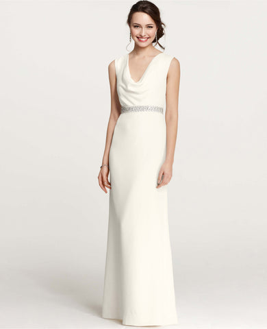 Ann Taylor Mya Cowl Neck Wedding Gown