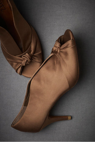 Knotted Peep-Toes - Chocolate