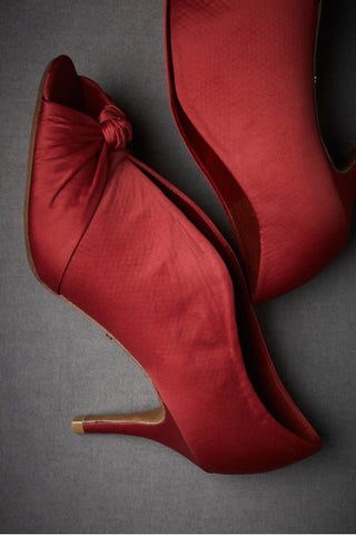 Knotted Peep-toes - Red