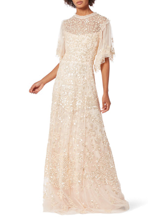 BHLDN Needle & Thread Honesty Flower Gown