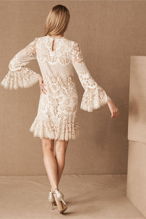 BHLDN Needle & Thread Snowdrop Mini Dress