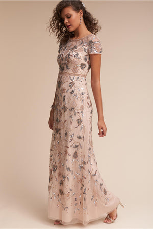 BHLDN Adrianna Papell Cecelia Gown - Champagne