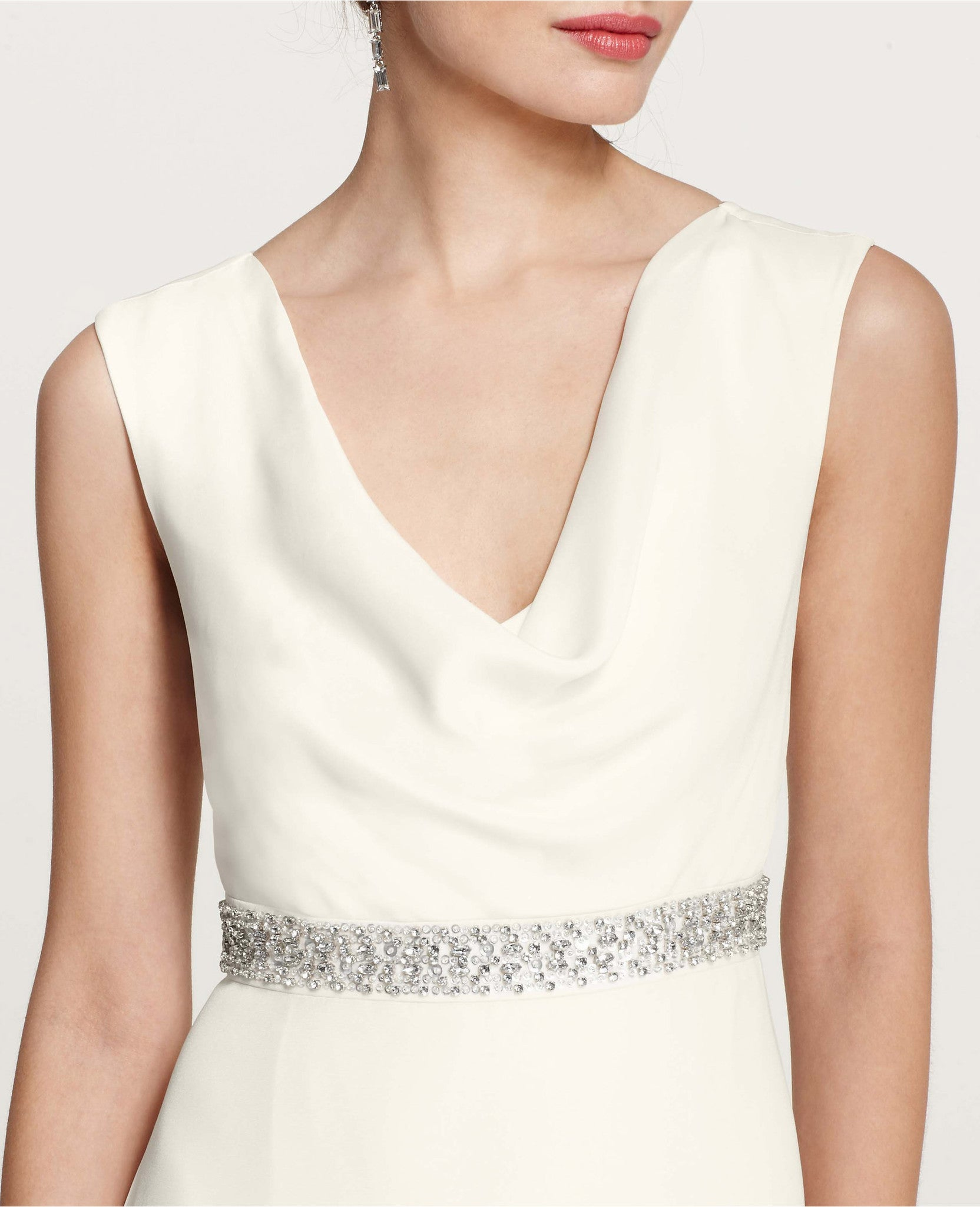 Cowl Neck Bridal Gown