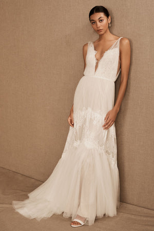 BHLDN Willowby Betony Clementine Gown Size 14 - Defects