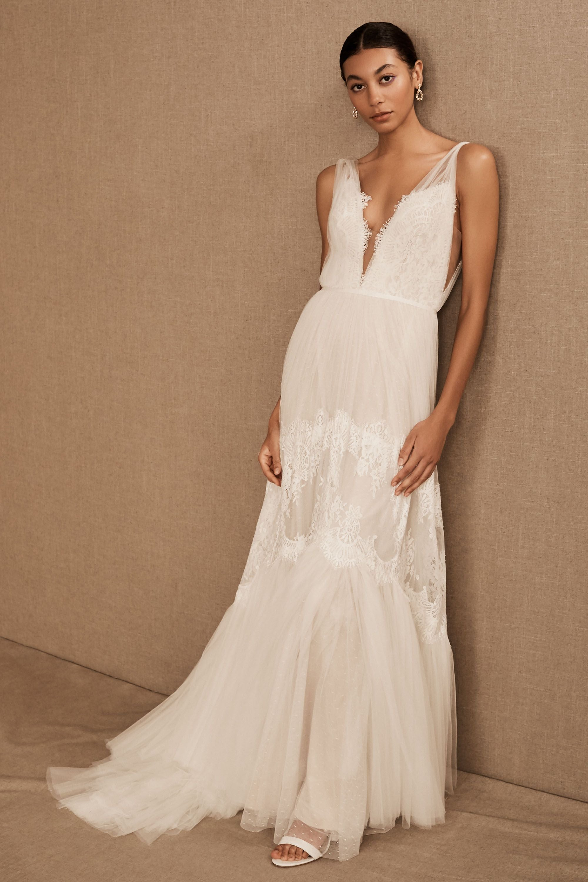 BHLDN Willowby Betony Clementine Gown Size 4 - Defects
