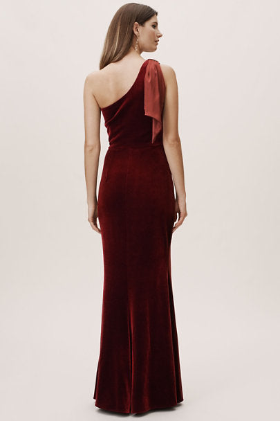 BHLDN Britta Velvet Dress - Wine