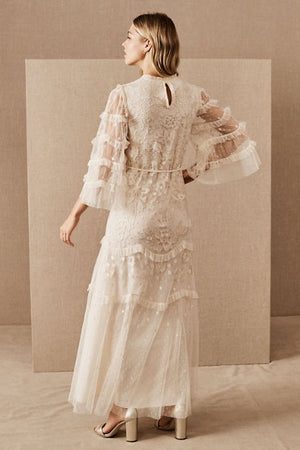BHLDN Needle & Thread Patchwork Lace Dress