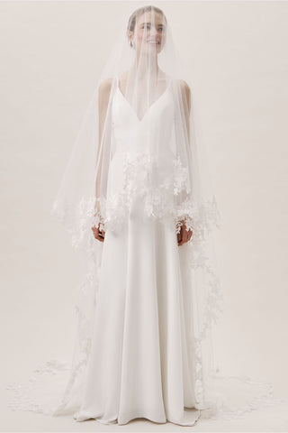 BHLDN Untamed Petals Ambrosia Cathedral Veil