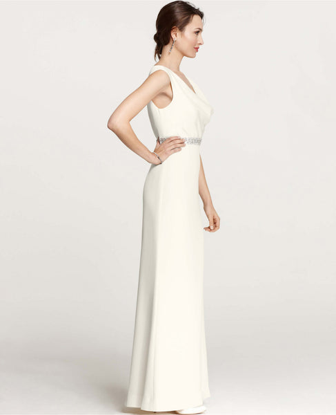 Ann Taylor Mya Cowl Neck Wedding Gown - Adinas Bridal