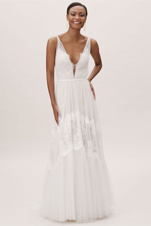 BHLDN Willowby Betony Clementine Gown - Defects