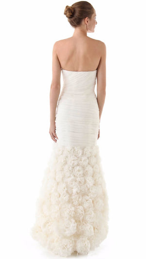 Theia 890092 Strapless Rosette Wedding Gown