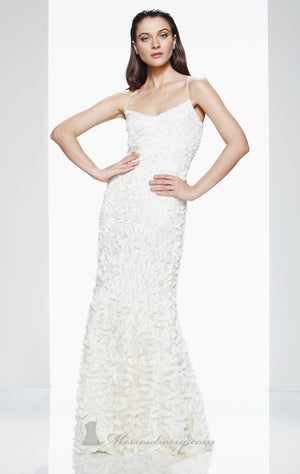 Theia 880631 Ivory Petal Gown