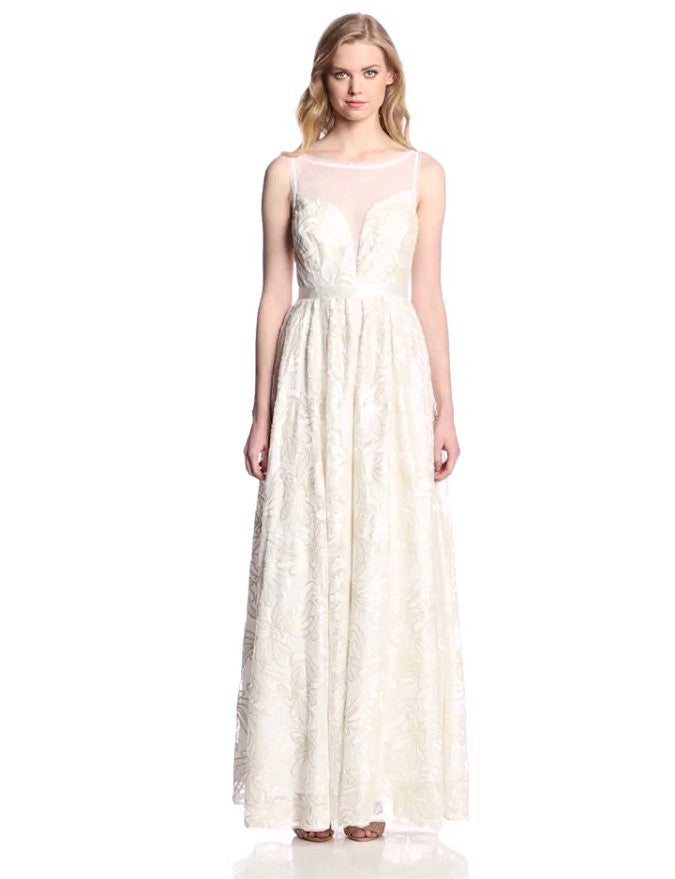df1635cfb4 Adrianna Papell Sleeveless Illusion Sequin-lace Wedding Gown