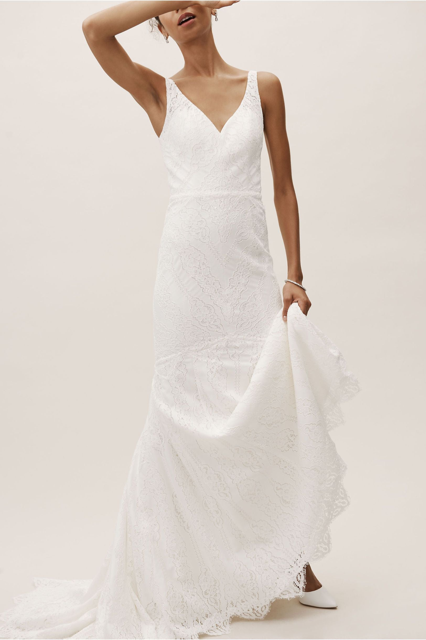 BHLDN Whispers & Echoes Lace Be A Lady Gown