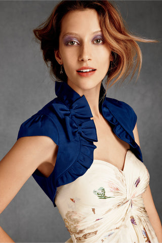 Bow-Topped Bolero - Blue