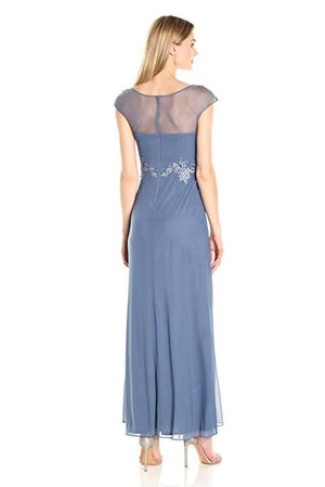 Decode 1.8 Cap Sleeve Dress with Embroidery - Periwinkle