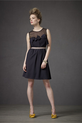 BHLDN Origami Pleated Dress - Charcoal