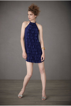Ruffled Racerback Dress - Blue 2