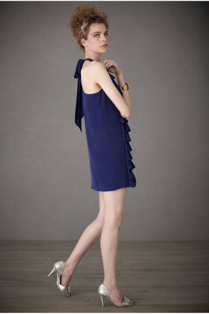 Ruffled Racerback Dress - Blue Side