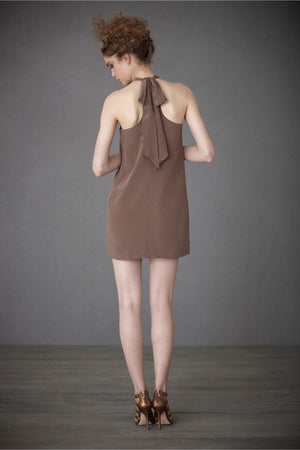 Ruffled Racerback Dress - Mushroom Back