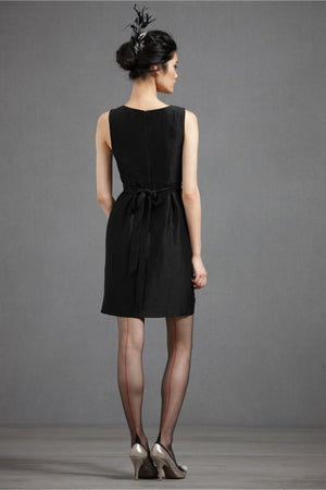 Starburst Pleated Shift Black Back