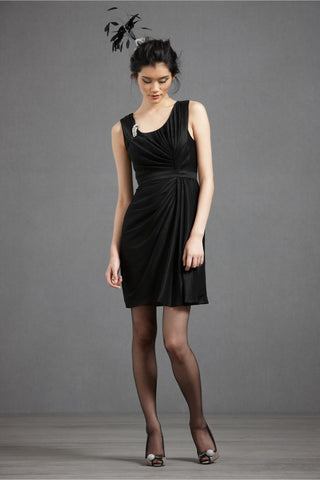 Starburst Pleated Shift - Black Front
